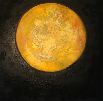 """Full Moon Acrylic on Canvas 35.5"""" x 35.5"""""""