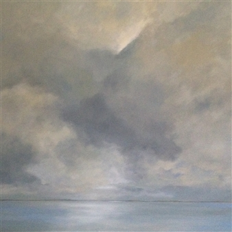 """Storm At Seabright Oil on Canvas 37"""" x 49"""""""
