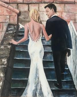 "Destination Wedding Oil on Canvas 20"" x 16"""