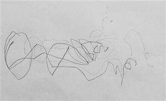 """VvA-B Pencil on Paper 12"""" x 16.5"""""""