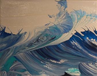 """Chop Acrylic on Canvas Board 8"""" x 10"""""""