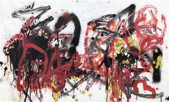 """Tue 1 Acrylic & Oil on Fiber Board 23.5"""" x 37.5"""""""
