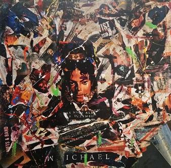 "Pop King Mixed Media on Canvas 47.5"" x 47.5"""