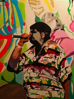 """Coogi Shirt Acrylic on Canvas 36"""" x 24"""""""