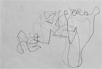 """VvA-D Pencil on Paper 12"""" x 16.5"""""""