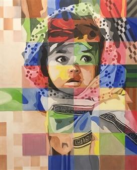 """Little Girl Acrylic on Canvas 39.5"""" x 31.5"""""""