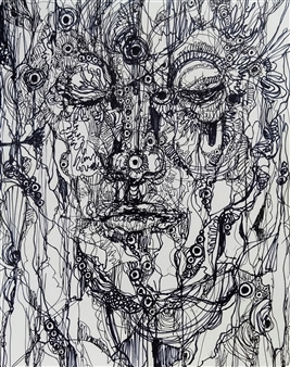 "Human Pen on Paper 16"" x 12.5"""