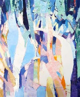"Rainforest Oil on Canvas 24"" x 20"""