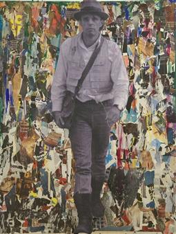 """Siamo Noi La Rivoluzione Collage on Canvas 71"""" x 54"""" x 2"""""""