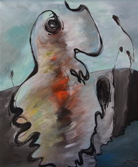 "12JAN Acrylic on Canvas 36"" x 30"""