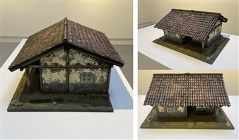 """Andean Housing Modeling with Cardboard & Acrylic 14"""" x 17.5"""" x 8.5"""""""