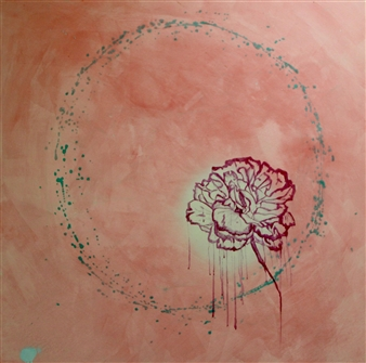 "A Lover's Circle Acrylic on Canvas 48"" x 48"""