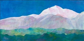 """White Mountains Acrylic on Canvas 15"""" x 30"""""""
