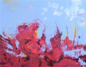 """Sans Titre 2014-6 Acrylic on Canvas 29"""" x 36.5"""""""