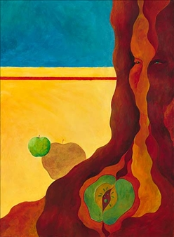 "Apple Tree Acrylic on Canvas 30"" x 22"""
