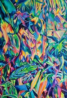 "Glass House Oil on Canvas 39.5"" x 27.5"""