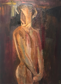 """Hides His Face Oil on Canvas 48"""" x 36"""""""