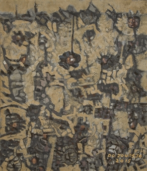 """Knar 7 Soil on Canvas 21"""" x 18"""""""