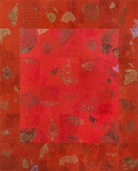 "Beatha Uisge Collage on Plywood 40.5"" x 34"""