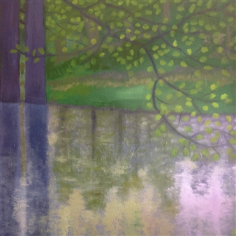 "Twilight Oil on Canvas 35"" x 35"""