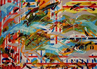 "Freedom Acrylic on Canvas 20"" x 27.5"""