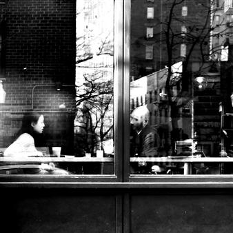 "NYC Reflecting Silver Gelatin Print 23.6"" x 23.6"""