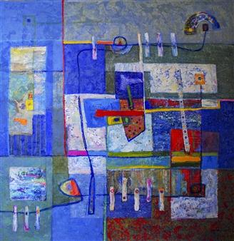 "Abstract I Acrylic on Canvas 40"" x 40"""