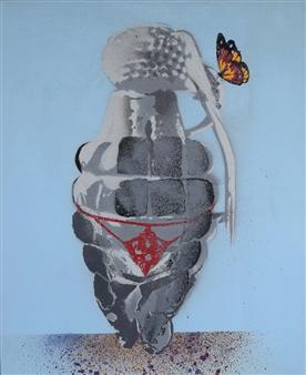 """Venus de Willenade Acrylic & Spraypaint on Canvas 20"""" x 16"""""""
