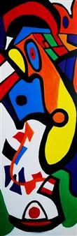 "Iffy the Clown Acrylic with Satin Varnish Polymer 72"" x 24"""