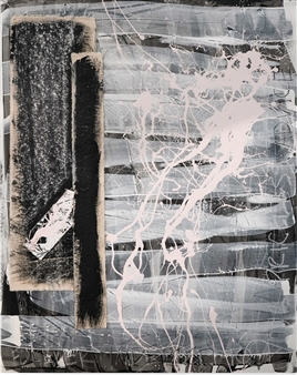 """Endings No. 21 Acrylic on Wood Panel 20"""" x 16"""" x 1.5"""""""