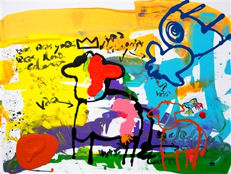 "VacaBasqui Acrylic on Canvas 35.5"" x 47.5"""