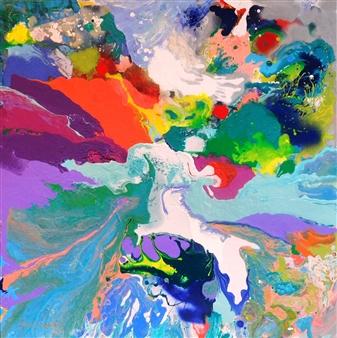 """Glacier Bay Acrylic on Canvas 36"""" x 36"""""""