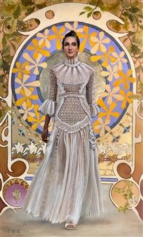 """Jasie Valentino Oil on Canvas 70"""" x 45"""""""