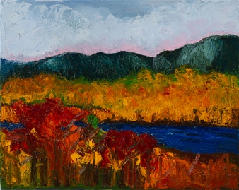 """Blue River Oil on Canvas 16"""" x 20"""""""