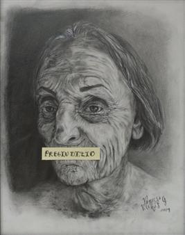 """Pregiudizio Acrylic & Pencil on Paper 14"""" x 11"""""""
