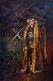 "Baurzhan Oil on Canvas 40"" x 27"""