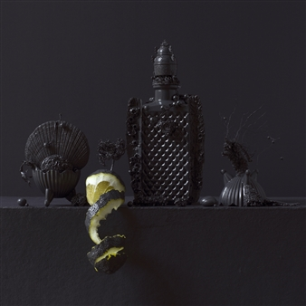 Still Life in Grey with Lemon / second variation