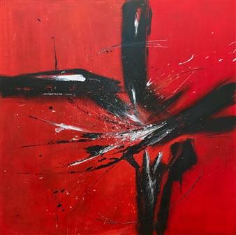 """Energy Mixed Media on Canvas 39.5"""" x 39.5"""""""