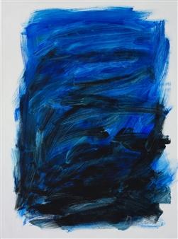 """Blue Masquerade Acrylic on Canvas 40"""" x 30"""""""