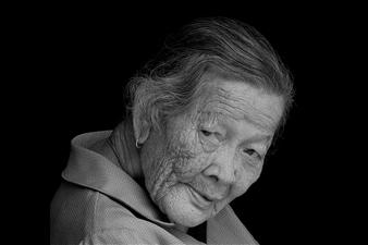 "face of woman op 20 Photogram-Lambda Print 23.6"" x 39.4"""