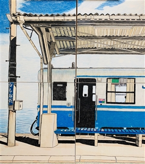"""Summer Trip Colored Pencil on Paper 26"""" x 26"""""""