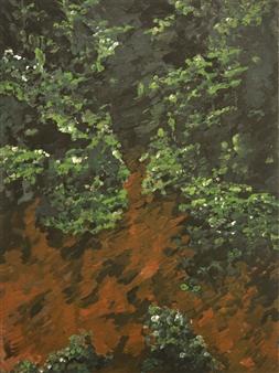 """Botanical Garden 3 Oil & Acrylic on Canvas 40.5"""" x 30"""""""