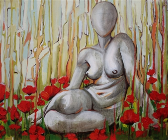 Nude In a Poppy Field