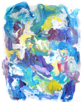 "Sonata With Violet Acrylic on Canvas 30"" x 24"""