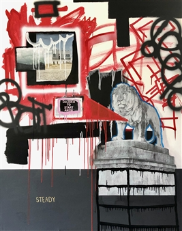 """Course Corection Mixed Media on Canvas 60"""" x 48"""""""