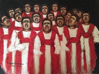 """Prayers Oil on Canvas 29"""" x 33"""""""