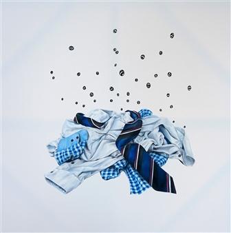 "Chaos Acrylic & Oil Pastel 48"" x 48"""