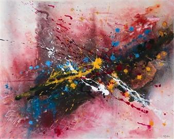 "Abstract #3 Acrylic on Canvas 24"" x 30"""