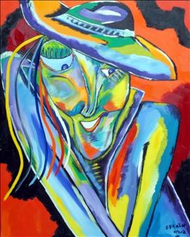 Mujer de Padro Navaja - Oil on Canvas