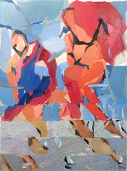"Entre Dos Aguas Oil on Canvas 46"" x 35"""